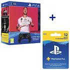 Pack FIFA 20 + Manette DualShock V2 + Abonnement 12 Mois Playstation Plus