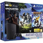PS4 Slim 1 To + Horizon Zero Dawn + Uncharted The Lost Legacy + Ratchet & Clank