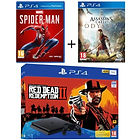 PS4 1 To + Red Dead Redemption 2 + Marvel's Spider-Man + Assassin's Creed Odyssey