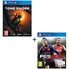 Jeux PES 2019 + Shadow of the Tomb Raider - PS4