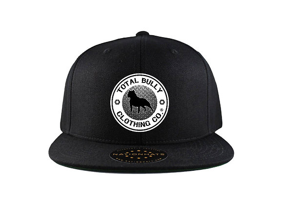 Total Bully Clothing Co.  Black w/Black & White Embroidered Logo Snap-back