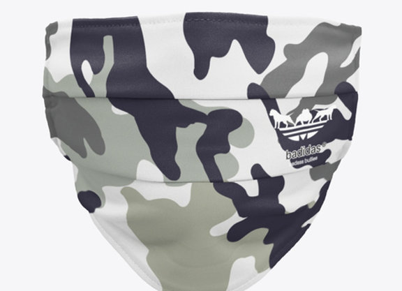 Badidas® Grey Camo Face Mask