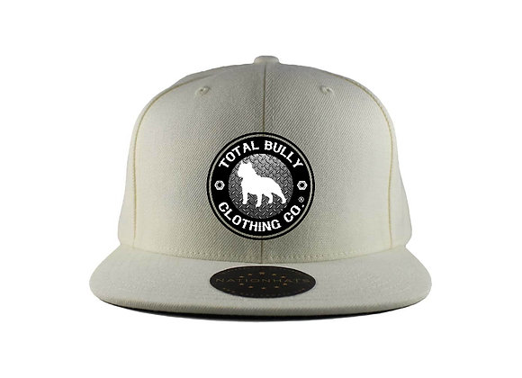 Total Bully Clothing Co. White w/Black & White Embroidered Logo Snap-Back