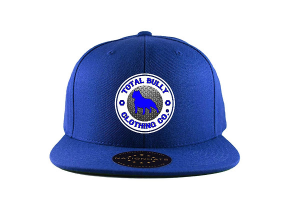Total Bully Clothing Co. Classic Blue w/Blue & White Embroidered Logo Snap-Back