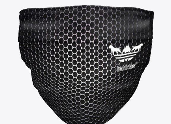 Badidas® Blackout Honeycomb Face Mask