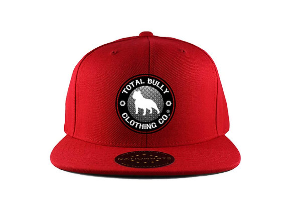 Total Bully Clothing Co. Red w/Black & White Embroidered Logo Snap-Back