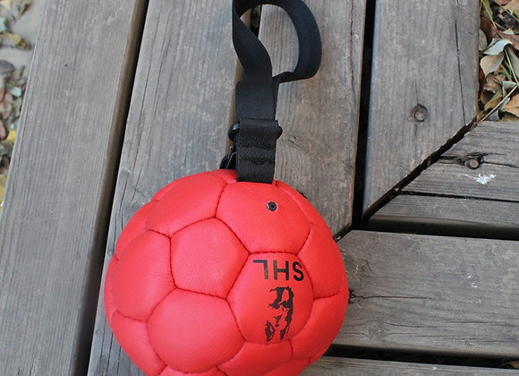Genuine Leather High Quality Large Dog Soccer Ball Tug