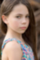 brunette child model serious