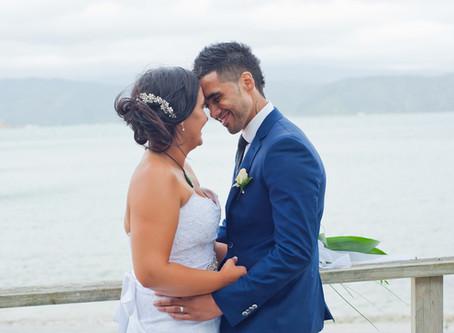 H + N  Scorching Bay wedding