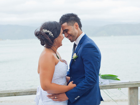 H + N  Scorching Bay wedding