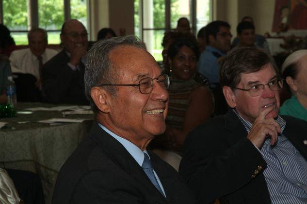 Council Member Felix Fraga and Joe Adams, Union Pacific