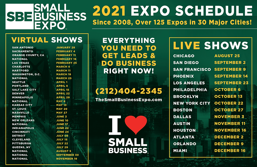 Small Business Expo_2021 Upcoming Events