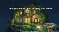 House lights on text