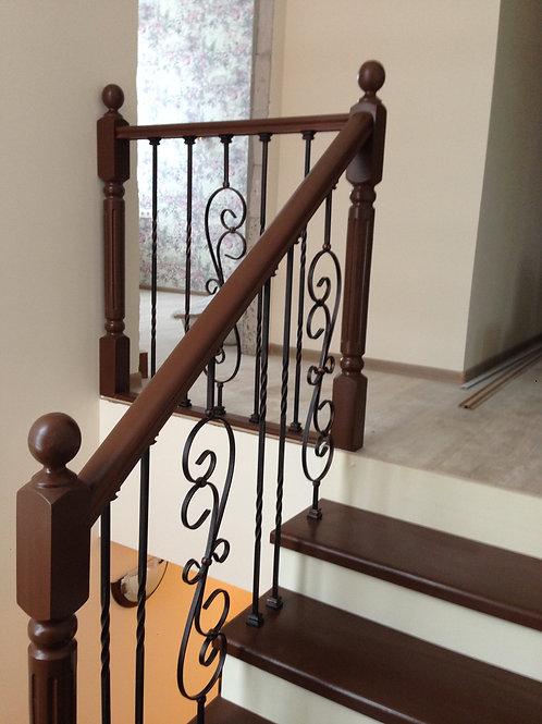 Отделка бетонной лестницы в таунхаусе