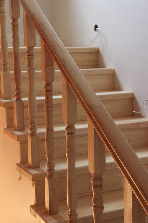Отделка бетонной лестницы в частном доме