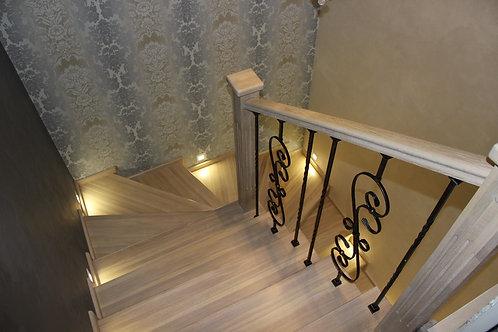 Отделка монолитной(бетонной) лестницы в таунхаусе или частном доме