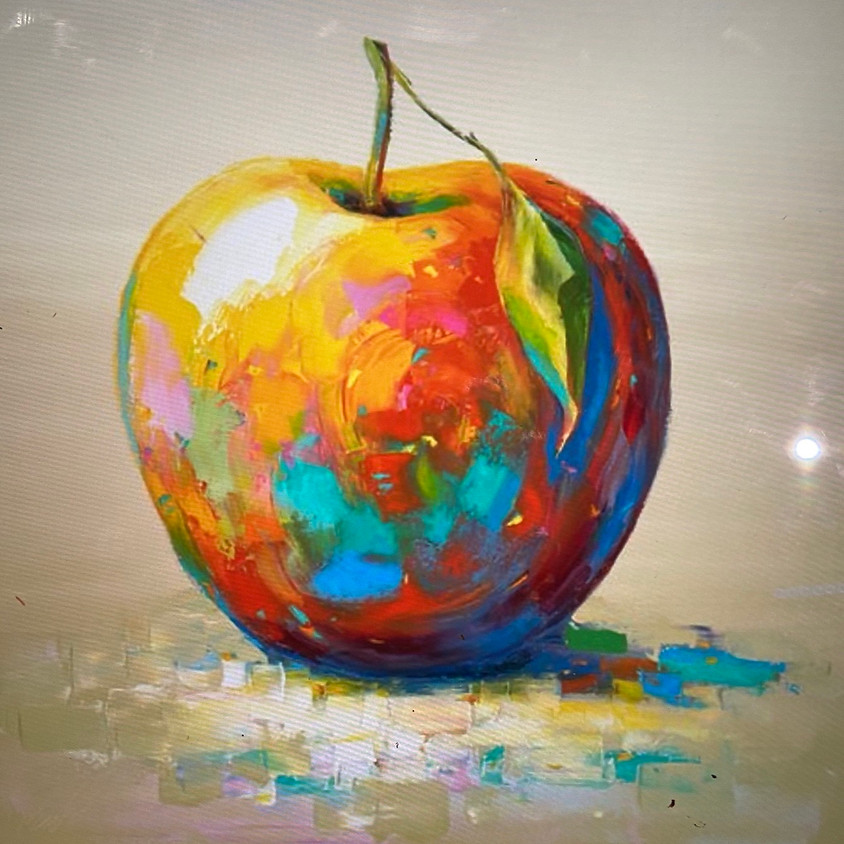 Colorful Apple Acrylic Painting