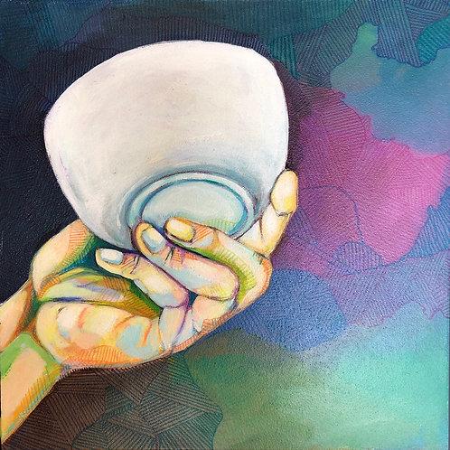 Hand holding bowl 2