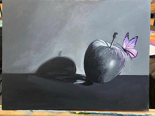Butterfly on apple