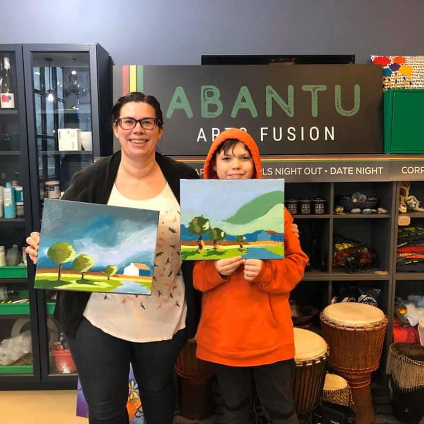 Mom & Son Paint Class