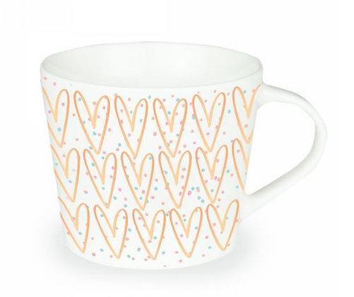 """Kaffeetasse """"Herzen"""""""