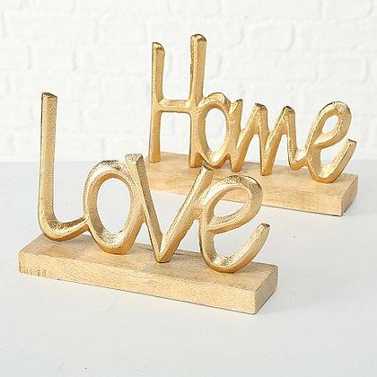 """Schriftzug """"Love"""" / """"Home"""""""