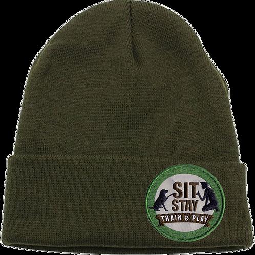 Sit Stay Cuffed Skull Cap