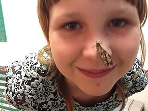 photo of a student with buttefly on nose