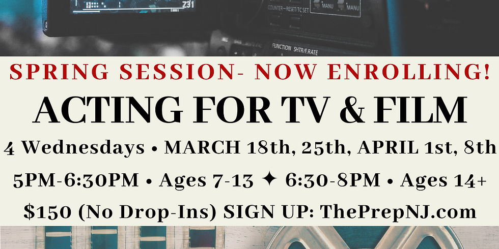 Acting for TV & Film (Ages 14+)