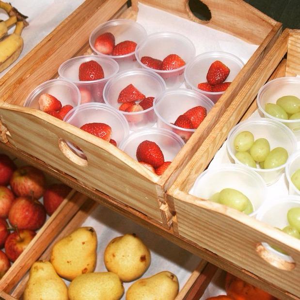 Detalhe banca de frutas