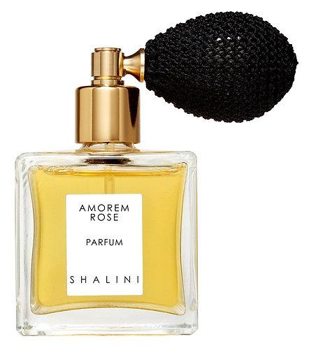 Amorem Rose Parfum by Shalini (with black bulb atomizer)