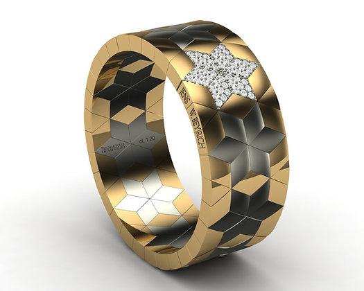 Gold Solitaire (Diamonds), Double Signature Roberto Demeglio-Jens W. Beyrich