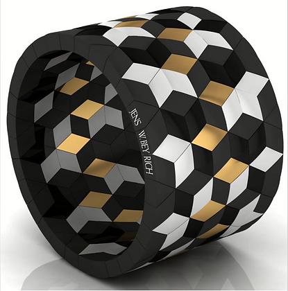 Hyperymmetrics 20-Star-Bracelet,Double Signature Roberto Demeglio-Jens W Beyrich