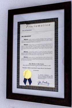 Proclamation from City of Cincinnati
