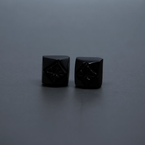 Carved Square Studs
