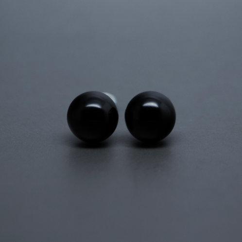 """Black """"Pearl"""" Studs"""