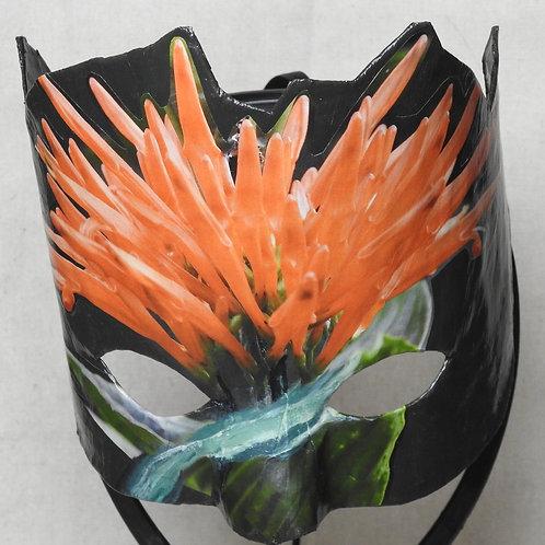 """Orange Fairy Duster"" - Mask features an orange flower ""crown"""