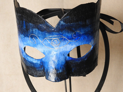 """Aura"" (blue) - Mask depicting a blue aura with third eye"