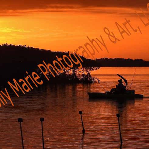 Bayport Sunset with Boat