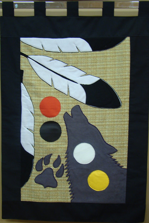 WOLF W/ FOUR COLOURS