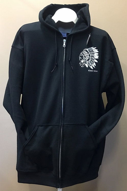 ZIP-UP HOODIE HEADDRESS