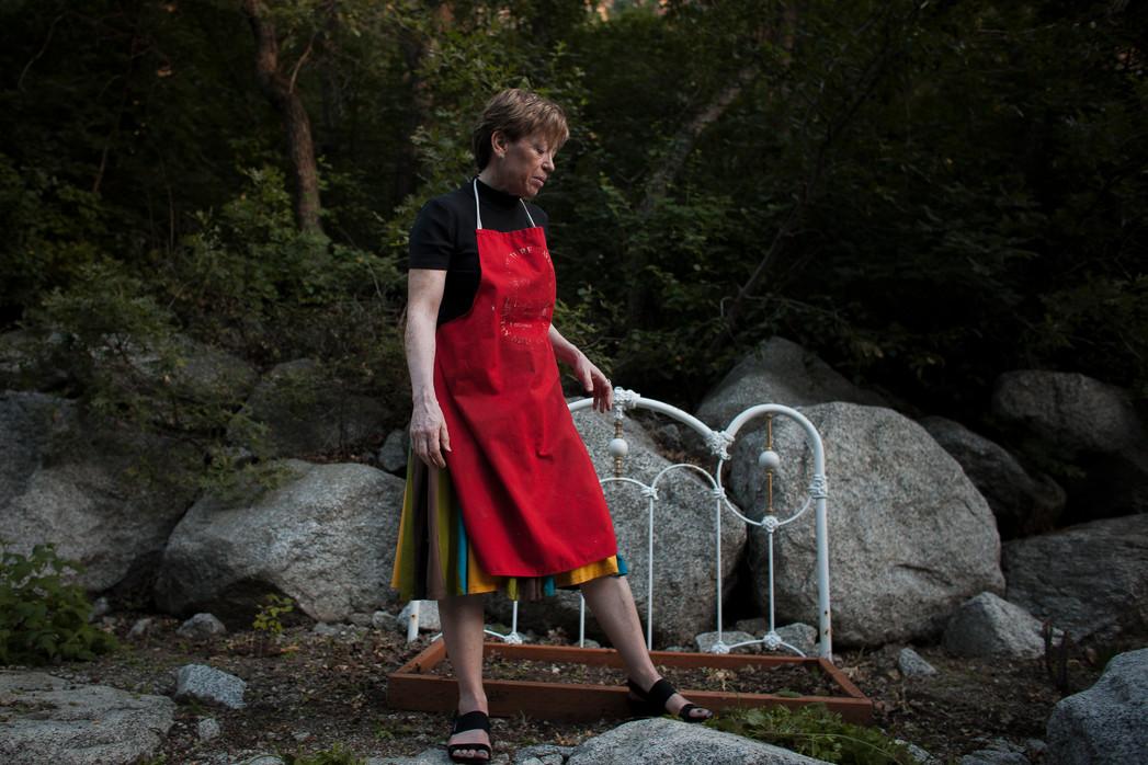 Kate Brainerd in her backyard garden, summer 2019.