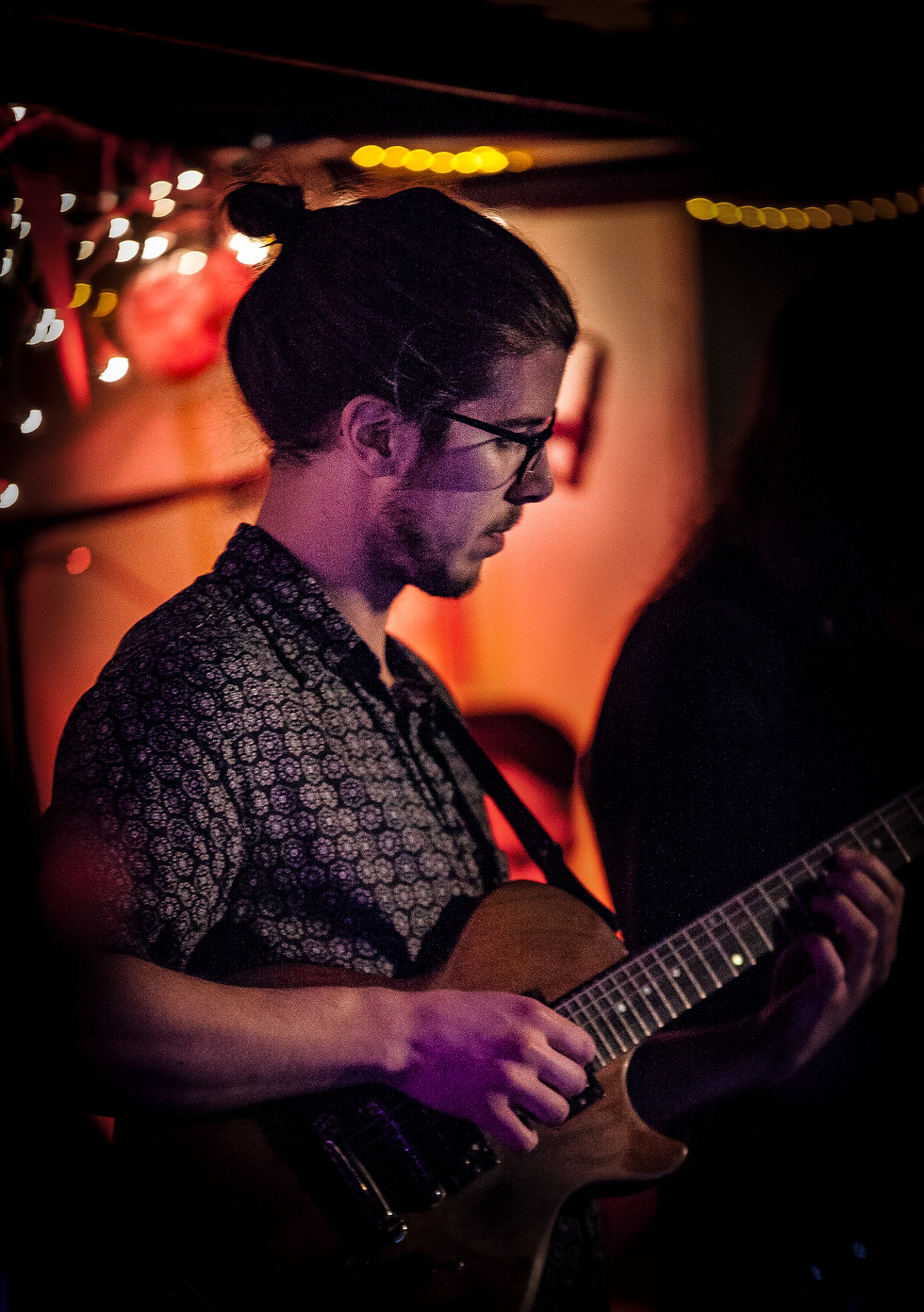 Art Baker, one of two guitarists in the group.