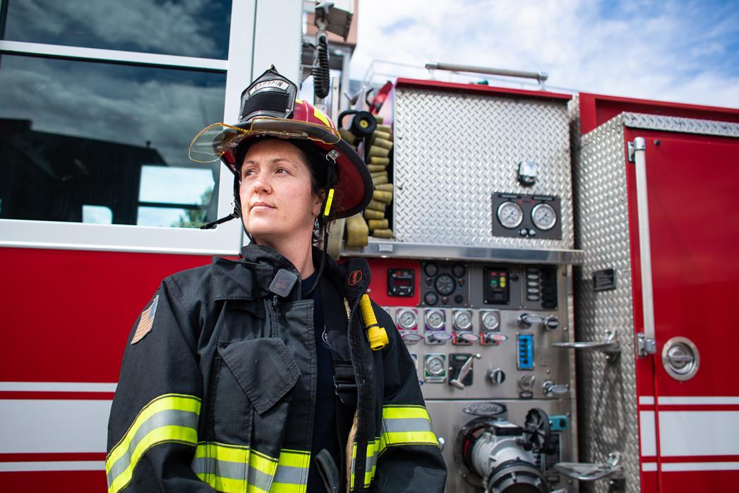 Missoula Fire Captain Charlene Bundy. Bundy became Missoula's first female fire captain on May 1, 2020.