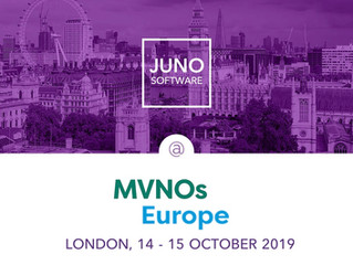 Meet JUNO Software team at MVNOs Europe 2019 in London