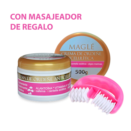 Crema Anticelulítica con Rodillo masajeador de REGALO