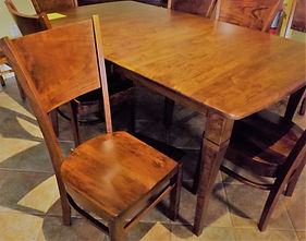 Amish Solid Cherry Dining Table And Side Chair