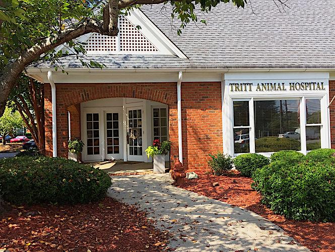 Front of tritt animal hospital SEPT2018.