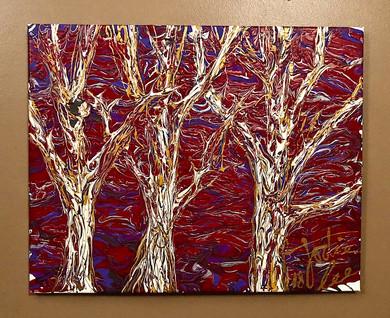 trees at dusk...$125