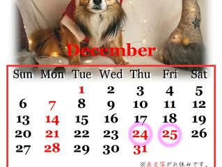 12月の営業カレンダーです。